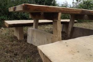 Oak benches