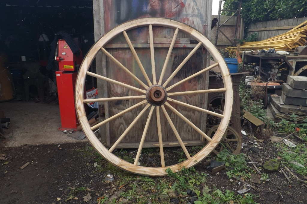 Large wooden warner wheel