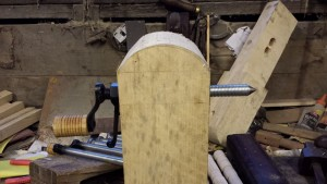Polelathe headstock setup