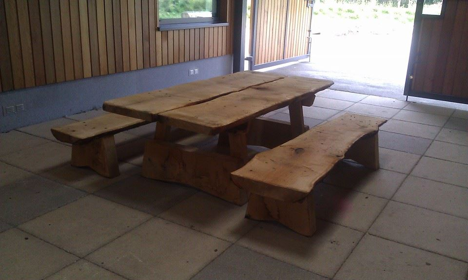 Solid Oak picnic table