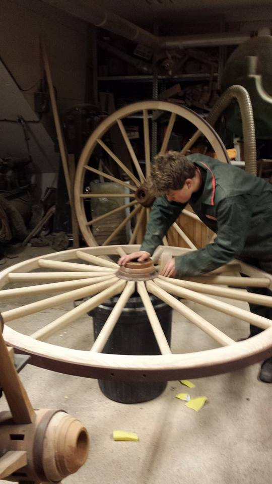 Large wooden wheels