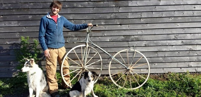 1860's French velocipede with its new wheels.