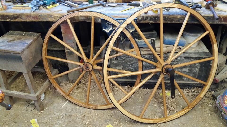 British Boneshaker wheels unknown maker.