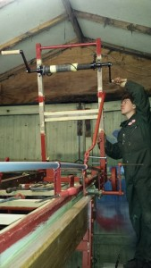 Wheeled escape winding gear restoration