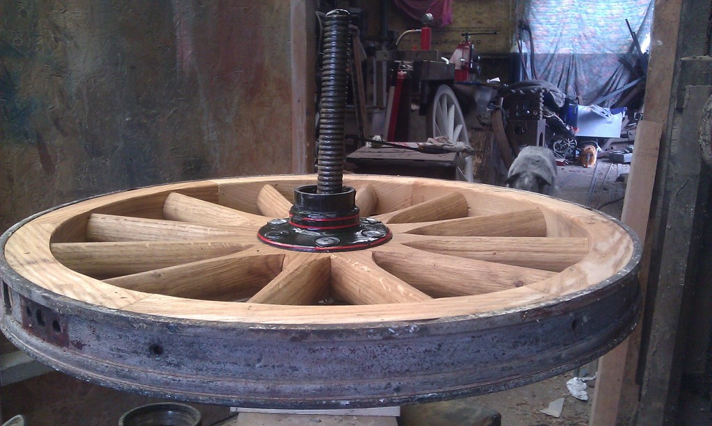 Wooden car wheel restoration