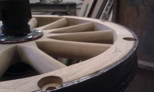 Wooden french car wheel