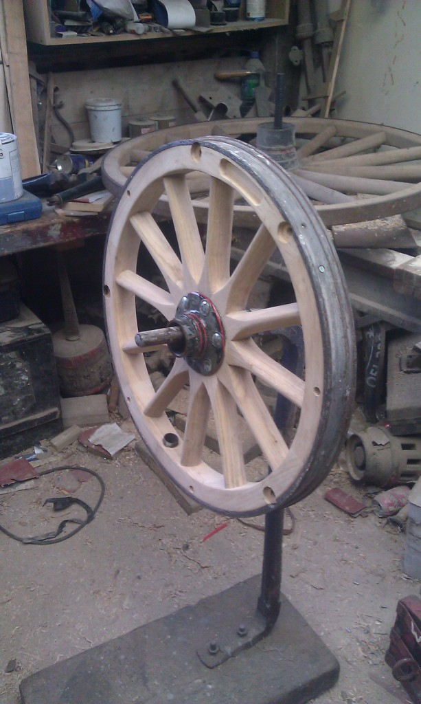 French wooden automobile wheel