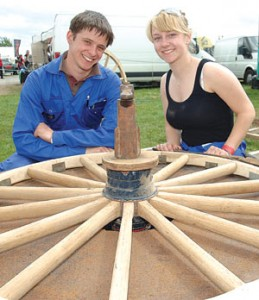 Wheelwright's shop demonstration team